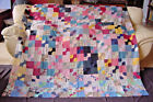 2 GENERATION BOW TIE QUILT TOP 1880s/1940s GREAT FABRICS!