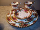 8pc Lot VINTAGE Royal Albert**Old Country Roses**Cup/ Saucer/Plates