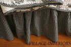 Queen Gathered Bedskirt Ruffle French Country Black & White Gingham Check