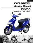 KYMCO Vitality 50 2-4T Scooter Service Manual Printed by CYCLEPEDIA