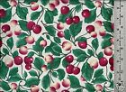 Northcott Fabrics CHERRIES  Leaves Allover 100 Cotton Quilt Fabric BTY