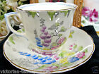 OLDER FOLEY TEA CUP AND SAUCER BLUEBELL FLORAL PAINTED CUP AND SAUCER