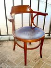 c1880 ORIGINAL THONET bentwood CHAIR early issue BEECHWOOD pressed seat design