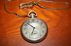 ANTIQUE 1911 HAMILTON POCKET WATCH WITH CHAIN 10K GOLD FILLED-17 JEWELS~ NICE!