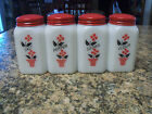 Vintage McKee Tipp FLOWER POT Range Shakers Salt, Pepper, Sugar, Flour