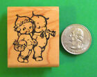 Kewpie Twins Wood Mounted Rubber Stamp