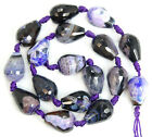 Faceted Agate Teardrop Gemstone Beads 14