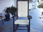 Antique Hand woven wicker mahogany President wood rocking chair good condition