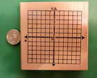 X Y Axis Math Rubber Stamp wood mounted
