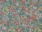 Country Florals by Joan Kessler for Concord BTY Calico Flowers on Light Beige