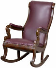 SWC-A Classical Mahogany Rocker with Carved Scrolled Arm Supports