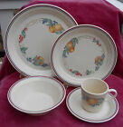 CORELLE ABUNDANCE SOUP CEREAL BOWL DINNER SALAD PLATE 20 PC CORNING BEIGE FRUIT