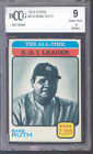 1973 topps #474 BABE RUTH at rbi leaders yankees BGS BCCG 9