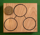 Total Parts Number Bond Large Wood Mounted Rubber Stamp for Singapore Math