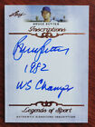Bruce Sutter 2012 Leaf Inscriptions Certified Auto Chicago Cubs 1982 WS Champs