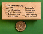 Your Paper Needs Teachers Writing Composition Rubber Stamp