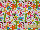 Flamingo Fling Alligator Turtle Butterfly Northcott Fabric by the 1 2 Yard 6913