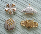 1992 FRANKLIN MINT STAR TREK INSIGNIA LOT OF 4 HALLMARKED .925 STERLING SILVER