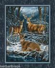 Springs Creative ~ Wintergreen - DEER BUCK DOE ~ 100% Cotton 36