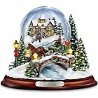 THOMAS KINKADE  LIGHTED & MUSICAL SNOW GLOBE HOME FOR HOLIDAY DECOR NEW