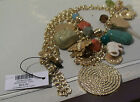 CHICO'S Mandi Pendant Charm Necklace Gold Tone NWT Sold out Item
