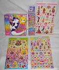 Lisa Frank Puzzle pencils Lisa frank Puzzle Stickers Sheet cats kitten shoes new