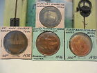 TENNESSEE CHURCH Lot of  4 Medal tokens coins  1970- 1976 N.J.  S.C. ST.PETER'S
