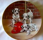 FIREHOUSE FROLIC Dalmatians Dog Puppy Fire Plate Limited Edition Linda Picken *