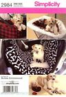Simplicity Pattern 2984 Dogs car seat and cover, shopping cart cover Toys bone