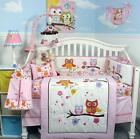 SoHo Pink Dancing Owl Baby Crib Nursery Bedding Set 13 pcs included Diaper Bag
