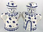 Polish Pottery Man Woman Gent Lady Salt Pepper SE Two Hearts 5