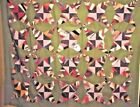 CRAZY STRING STAR  ANTIQUE QUILT TOP 1880S  EYE DAZZLER !