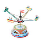 Retro Wind Up Rotating Spacecraft Space Ship Merry Go Round Tin Toy Vintage