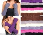 Fingerless Acrylic Sweater Cable Knit Gloves/Arm Warmers OS *7 Colors* Per Pair