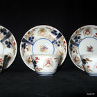17-18 THC ANTIQUE WONDERFUL JAPANESE GENROKU PORCELAIN IMARI CUP SAUCERS PIGEONS