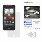 3 Pack HTC Droid Incredible 2 G11 Combo Set Three Ultra Clear Screen Protectors