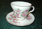 CROWN TRENT Staffordshire England Bone China Cup and Saucer Pink Roses Large