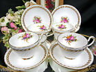 FOLEY TEA CUP AND SAUCER SET OF 4 TEACUPS SORRENTO PATTERN GOLD