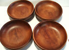 Baribocraft 4 Wooden Salad Bowls Small Footed Mid Century Modern