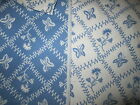ThickGorgeous Pierre Deux Entrelacs Blue White Butterflies French Country Fabric