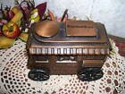 CAST IRON COIN BANK POPCORN STAND BANTHRICO EQUIBANK 1974