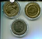 1998 HO CHUNK HARRAHS EXCALIBUR $5 CASINO TOKEN LOT OF 3