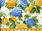 Moda Fabric ~ SUMMER BREEZE ~ French Country Blue & Yellow Mums Ivory