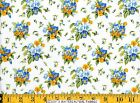 Moda Fabric ~ SUMMER BREEZE ~ French Country Blue & Yellow Bouquets