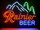 NEW RAINIER MOUNTAIN FRESH PABST REAL GLASS NEON BEER LAGER BAR PUB LIGHT SIGN