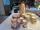Vintage Japanese Traditional Hand-Painted Ceramic Tea Set lot 19 pieces - NAT