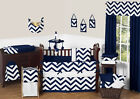 SWEET JOJO DESIGNS NAVY BLUE WHITE CHEVRON ZIGZAG BABY BOY GIRL CRIB BEDDING SET