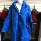 18W 20W NEW ROAMAN'S QUILTED PUFFER JACKET COAT REMOVABLE HOOD COBALT BLUE $89
