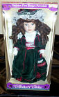 VICTORIAN COLLECTOR'S CHOICE GIFT BOX DOLL BRITISH GIRL VELVET GOTHIC UK HISTORY