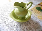 Vintage Small Green Water Pitcher and Bowl Set! Pottery  ( Numbered 906)